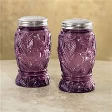 new purple glass jars 3pc canisters kitchen decor storage violet