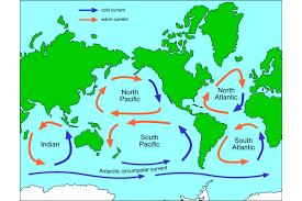 map with oceans map of gyres science learning hub
