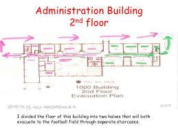 admin building floor plan ap english iii fire evacuation plan 2