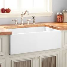 30 mitzy fireclay reversible farmhouse sink smooth apron white