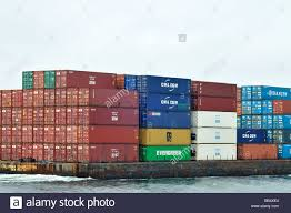 barge shipping containers stock photos u0026 barge shipping containers