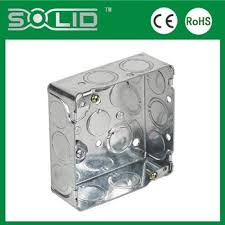 3x3 single gang height electrical steel switch box knockout box