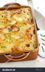 cuisine gratin dauphinois potato gratin gratin dauphinois cuisine stock photo royalty
