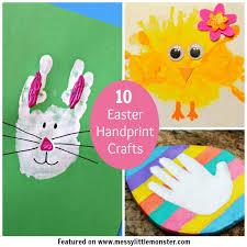 Easter Decorations For Preschool by Easter Handprint Ideas Messy Little Monster