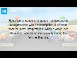 what is figurative language in literature youtube