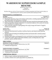 Structural Supervisor Resume Supervisor Resume Supervisor Cv Sample Manufacturing Supervisor