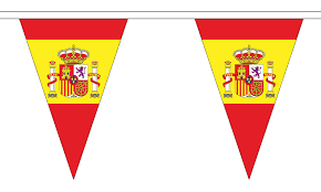Spain Flags Spain State Triangular Flag Bunting 20m Long 54 Flags