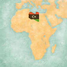 Libyas Flag Libya Libyan Flag On The Map Of Africa The Map Is In Soft