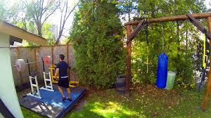outdoor weightlifting platform and gym set up in canada youtube