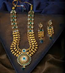 necklace set blue stone images Free express delivery premium 3 line gundumala rajwadi design in jpg