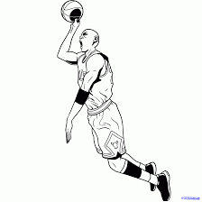 how to draw michael jordan dunk drawing sketch coloring page