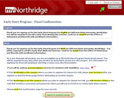 smart class online register early start guide california state northridge