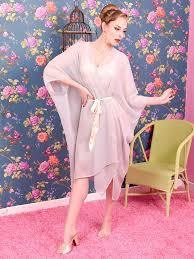dressing gown kaftan vintage inspired sheer georgette dressing gown