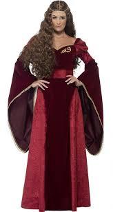Renaissance Halloween Costume Women U0027s Deluxe Crimson Medieval Queen Costume Candy Apple
