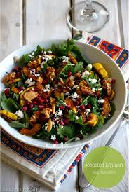 roasted squash and kale salad cooking curries