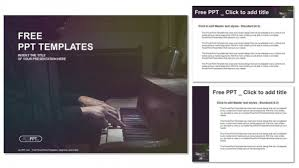 templates powerpoint free download music pianist musician piano music playing powerpoint templates