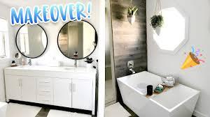 pinterest inspired bathroom makeover youtube