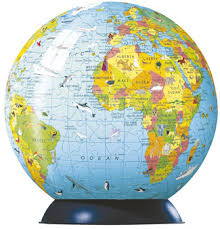 earth globe map children s world map puzzle globe