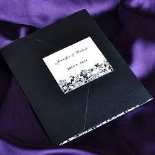 affordable pocket wedding invitations vintage black and white pocket wedding invitations with free