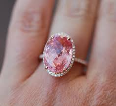 padparadscha sapphire engagement ring this is some major bling padparadscha sapphire ring 14k gold