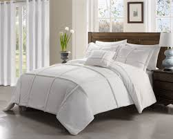 Grey And White Bedding Sets 4 Piece Paige White Comforter Set Also White Comforter Sets Queen