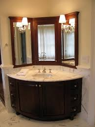Corner Bathroom Mirror Corner Sinks With Mirror Smart Alternative For Space Saving