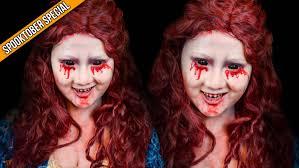 halloween makeup bloody mary delaniamarvella youtube