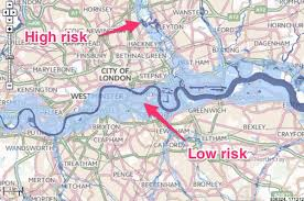 London On Map London Map Of Risk Of Flooding From Rivers And Sea Business Insider