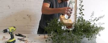 how to make a self watering concrete planter man made diy