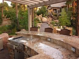 outdoor kitchen ideas plans rustic backsplash simply window
