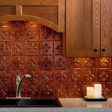 copper tile backsplash for kitchen moonstone copper tile backsplashes tile the home depot