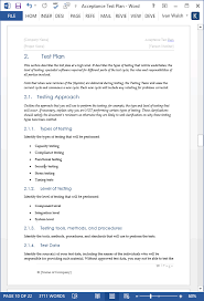 acceptance test plan template ms word instant download