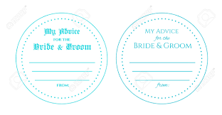 my advice for the and groom cards advice for the and groom wedding card circle card is used