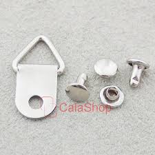 frame hanger triangle d ring picture frame hanger strap with double round cap