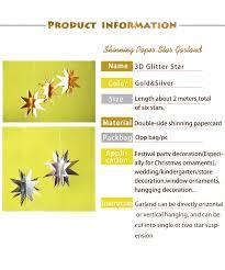 2pcs diy paper glitter 3d garland decoration