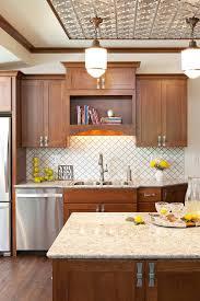 kitchen backsplash tile ideas with wood cabinets 44 top arabesque tile kitchen backsplash design ideas