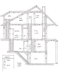 house design side view hydrium studio layout of a 4 story that