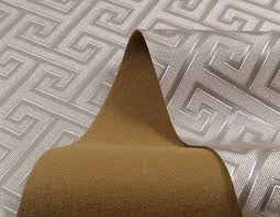 contemporary modern geometric wallpaper leather neutral greek key