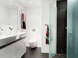 Small White Bathroom Interior Fascinating Image Of Small Bathroom Decoration Using