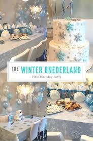 Winter Wonderland Centerpieces Beautiful Winter Onederland First Birthday Party Winter