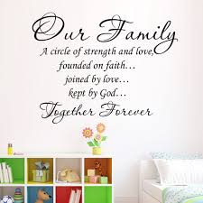Family And Love Quotes by Aliexpress Com Buy Our Family Quotes Art Wall Stickers Diy