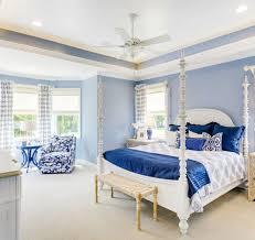 Two Tone Blue Bedroom Empty Nester Cape Cod Cottage Design Home Bunch U2013 Interior