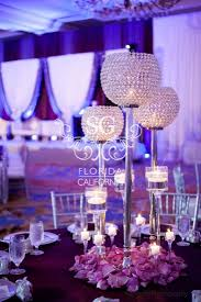 Silver Wedding Centerpieces by Suhaag Garden Weddings Florida Indian Wedding Decorator