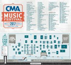 Radio City Music Hall Floor Plan by Xfinity Fan Fair X 2017 Cma Music Festival 2017 Cma Music Festival