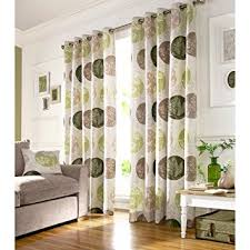 Green And Beige Curtains Brightwood Eyelet Lined Curtains Green 46x90 Inches Co