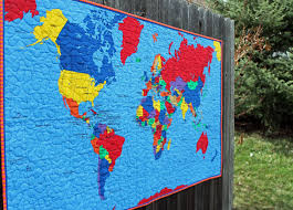 map quilt treasured maps