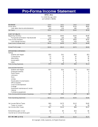 Pro Forma Financial Statements Excel Template Proforma Income Statement Hashdoc