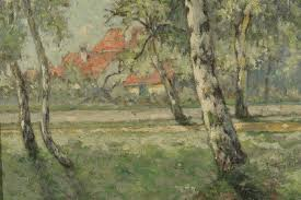 Impressionist Landscape Painting by Lot 192 William Clusmann Impressionist Landscape Painting