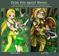 Link Meme - draw again meme by lady of link on deviantart