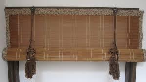 hanging bamboo blinds above window deuren for